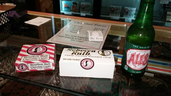 Rebecca Ruth Candy Factory: Bourbon balls, chocolates, Ale 8