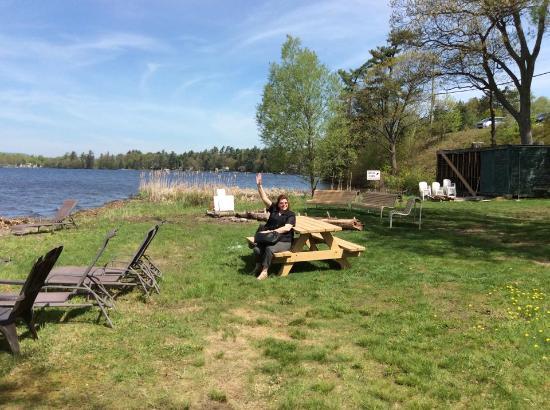Lac-Brome, كندا: Vue sur le lac en mai 2015
