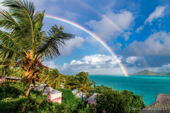 Bolans, Antigua: View from our sea view cottage after a morning rain shower