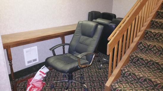Baymont Inn & Suites Whitewater: Random chairs in back of hotel