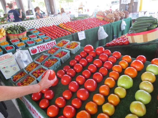 City Market: tomato display