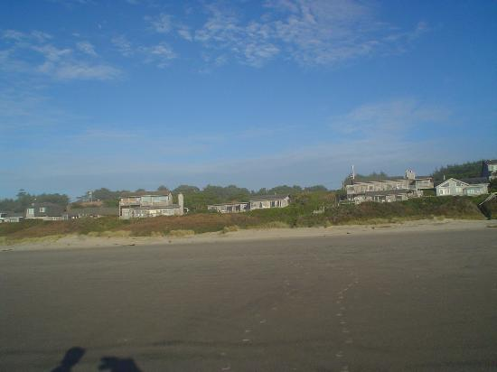 Edgewater Cottages: View from the Beach , The Rustic is the middle , front cottage