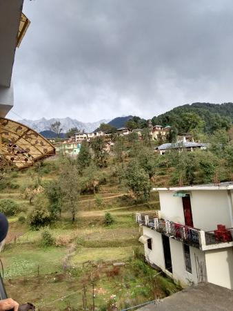 Nandini Residency : View from the first floor balcony.