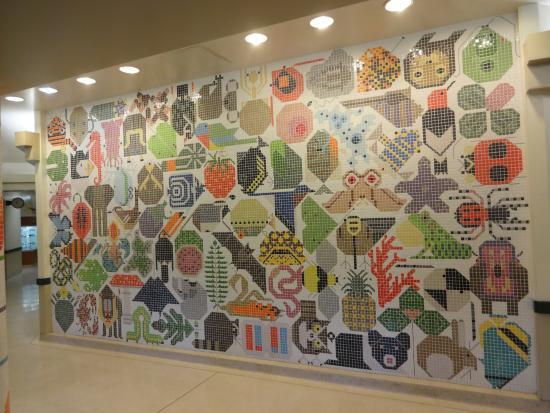 tile mosaic wall Web of Life Miami University Picture of Miami