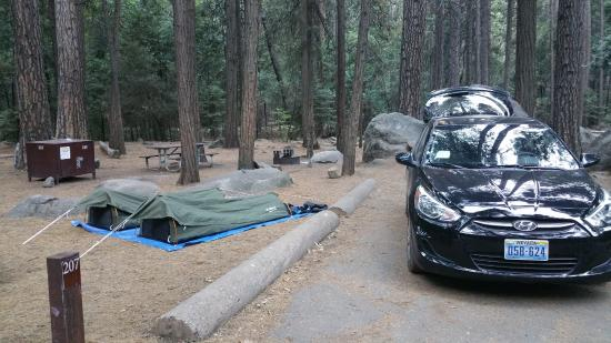 Upper Pines Campground: Our campsite