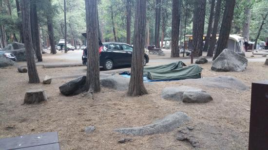 Upper Pines Campground: quite rocky