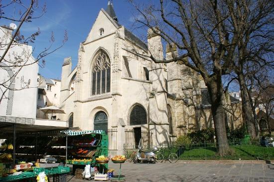Eglise Saint Mdard  bas de la Rue Mouffetard  Picture of Rue