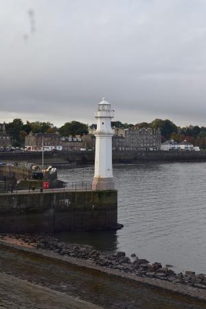 Premier Inn Edinburgh Leith Waterfront Hotel Calm Morning View Of Lighthouse