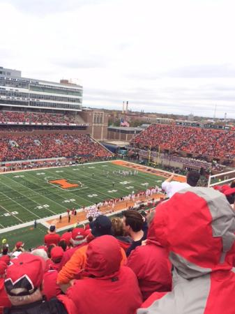 Memorial Stadium: View to the South Endzone