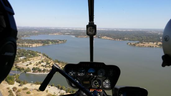 DeSoto, TX : Flying over Whiterock lake Dallas
