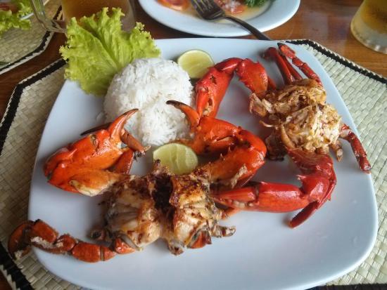 Bentota, Sri Lanka: Grilled Crab at Hotel Wunderbar