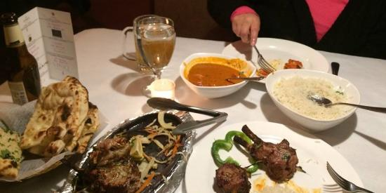 Altamont, NY: Chicken Tikka Masala and Kashmiri Lamb Chops with Garlic and Cheese Naans