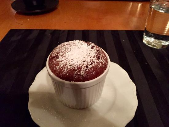 Tallgrass Restaurant: Chocolate souffle