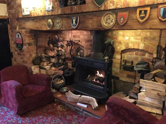 Abington Pigotts, UK: An English Fireplace - The Best