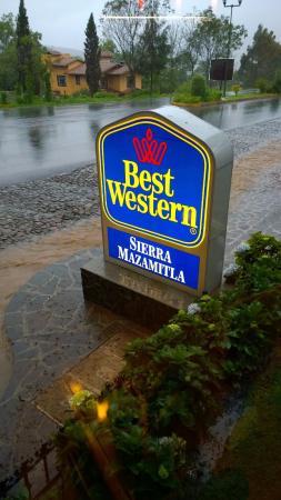 Best Western Sierra Mazamitla : Hotel Sign