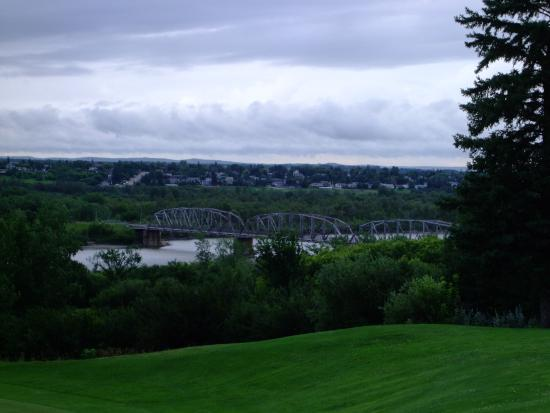 North Battleford, Canada : View of Old Bridges