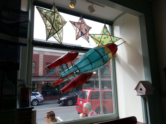 Rocket Bakery and Fresh Food: A shot of the Lantern Festival installation in one of their front windows.