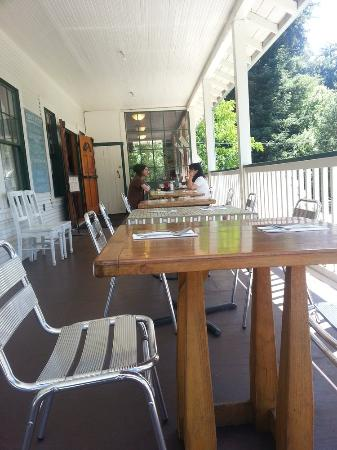 Rockys Cafe porch dining area