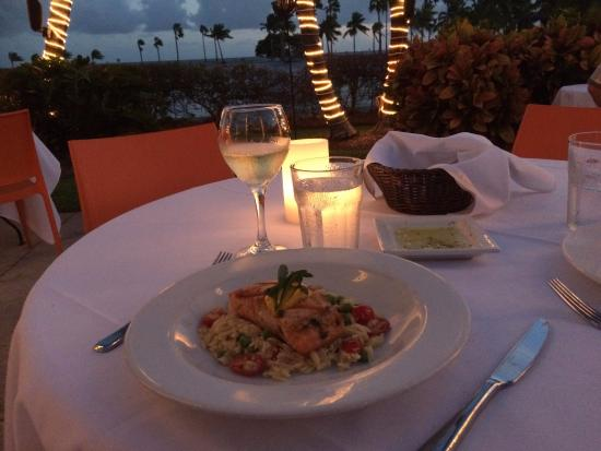 Salmon picture of red fish grill coral gables tripadvisor for Red fish grill