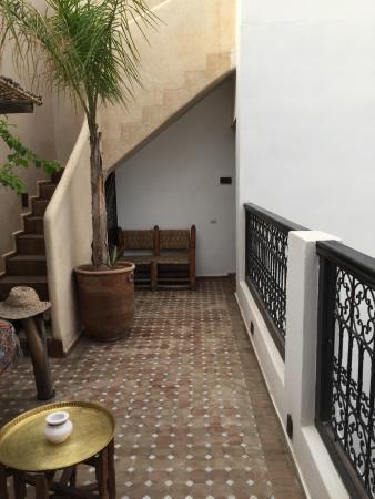 Riad Shambala: patio interior del riad
