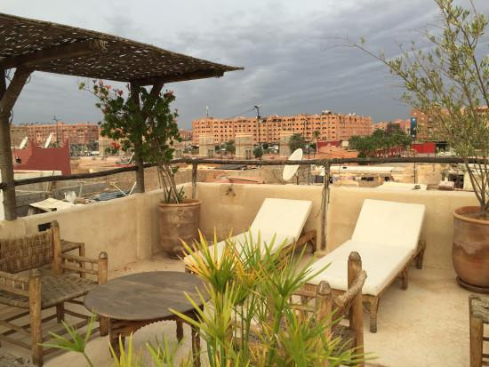 Riad Shambala: Terraza estupenda para relajarse