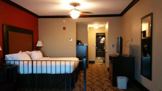 Holiday Inn Express Hotel & Suites Columbia-Fort Jackson: View of room interior from living area