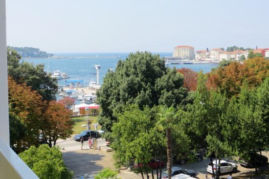 Hotel Porec: Вид с балкона