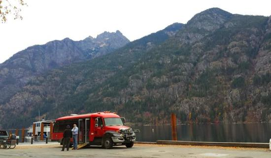 Stehekin Landing: Our picnic view