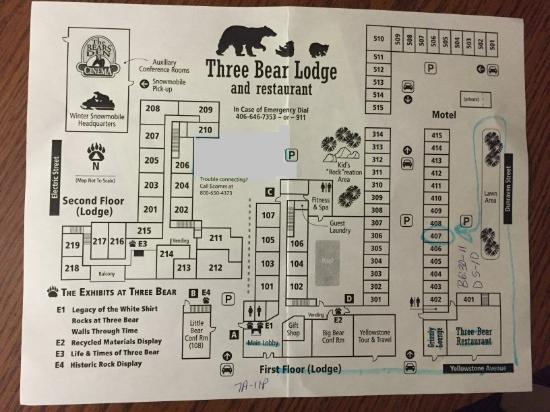 Three Bear Lodge Map