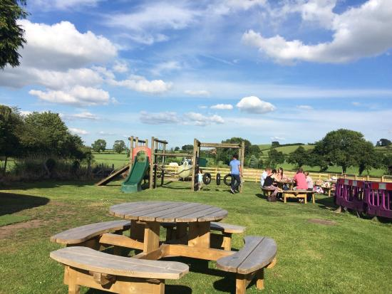 Draycott in the Clay, UK: For the whole summer a bouncy castle was there, and it's right next to a good play park!