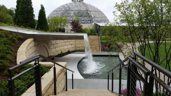Looking down from outside picture of greater des moines - Greater des moines botanical garden ...