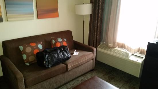 Staybridge Suites Hotel Tulsa - Woodland Hills : Living Room Queen Suite