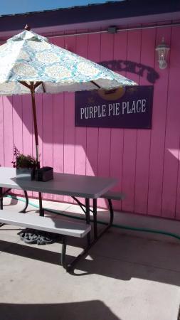 Bobkat's Purple Pie Place: Exterior & Partial Patio