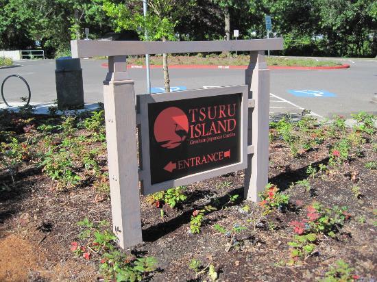 Gresham, Oregón: Tsuru Island entrance sign