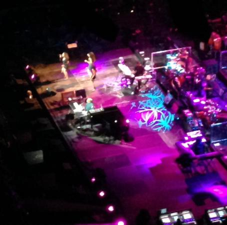 Scottrade Center: Birds eye view of the stage from Level 4 Suite. Don't buy a seat here.