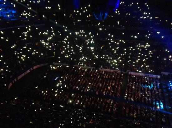 Scottrade Center: A sea of waving lights from smart phones during one of the numbers. Awesome.