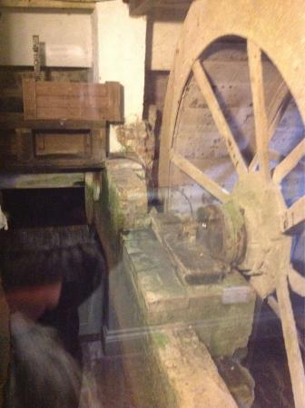 Mill house grounds, garden and view of the old mill wheel