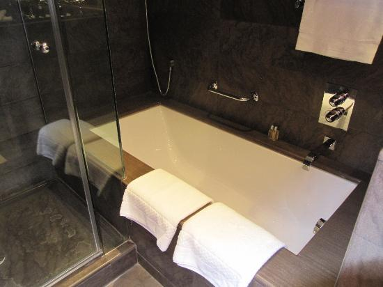 El Palace Hotel: シャワーブースは別に有り