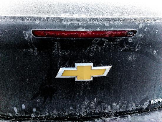 The Crossing Resort: frozen car on the far parking side