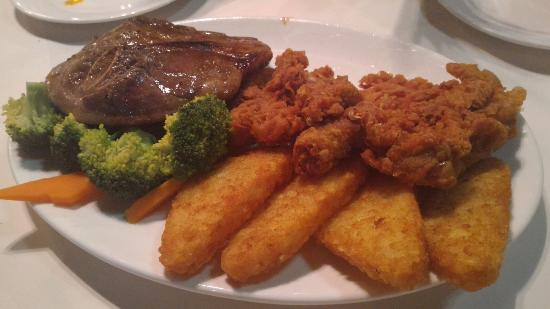 The Lobsterman: mixed grill, with only beef and chicken