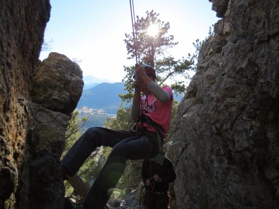 Colorado Mountain School: lowering down