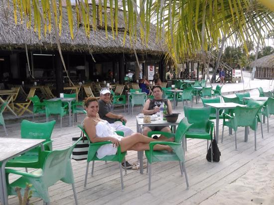 Poseidon restaurant: my cousing  sitting area on the sand
