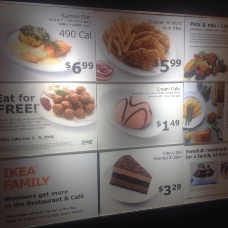 Ikea Las Vegas Food Menu