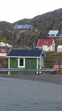 Maniitsoq, Greenland: View from my room