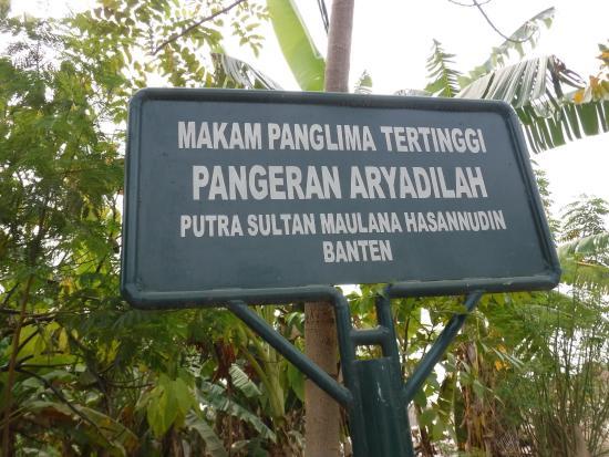 Serang, Indonesia: makam panglima tertinggi pangeran aryadilah putra sultan maulana hasanuddin banten