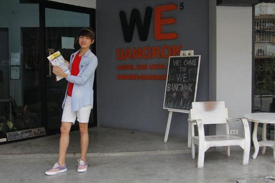 WE Bangkok Hostel: At the entrance