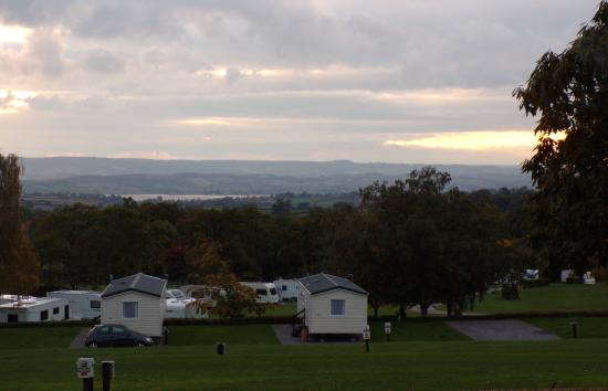 Woodbury Salterton, UK: view from the willow caravan