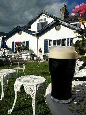 The Station House Hotel: Creamy Guinness in the beautiful gardens