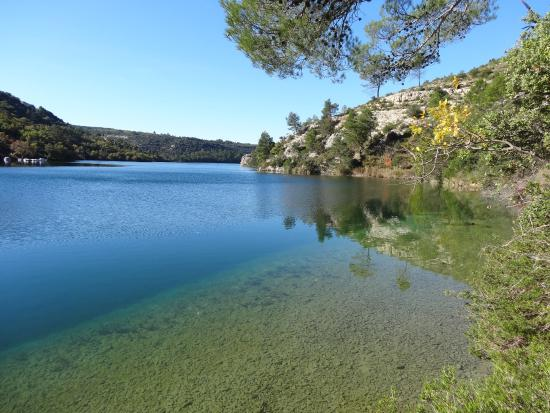 La piscine chauff e photo de camping naturiste verdon for Camping verdon piscine