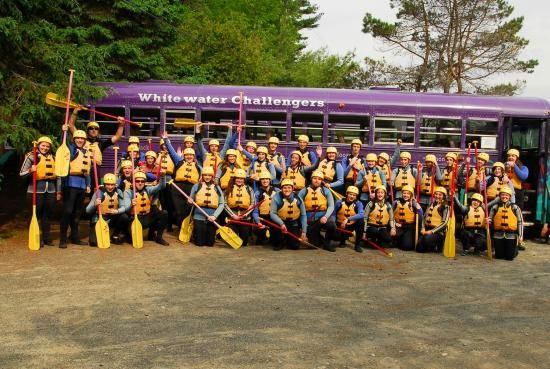 North River, NY: Group Photo Next to our Famous Purple Bus